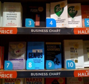Business Genius spotted in WHSmiths, St Pancras